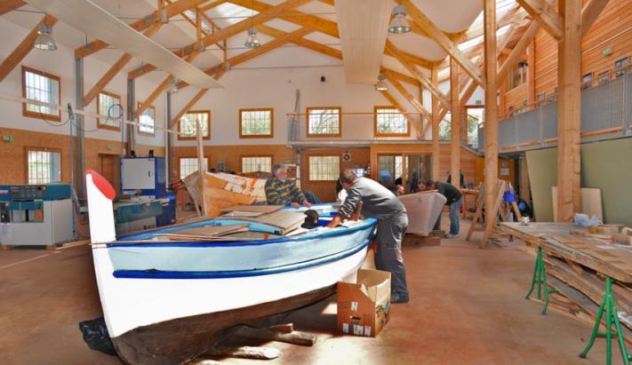 Atelier de barques à Paulilles
